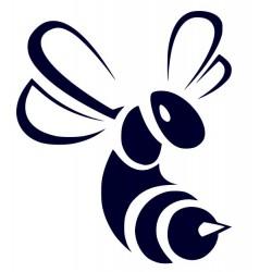Samolepka na auto-včela + vlastní text