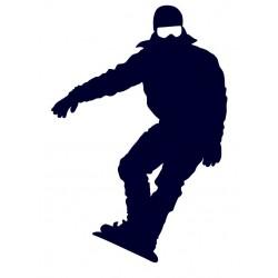 Samolepka na auto - snowboarding 07
