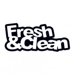 Samolepka na auto - nápis FRESH & CLEAN