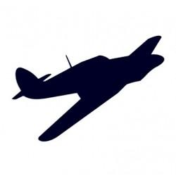 Samolepka na auto - letadlo