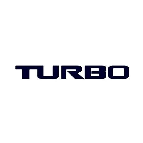 Samolepka na auto - nápis TURBO