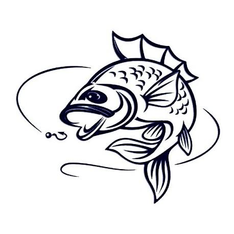 Samolepka na auto - ryba 03 - rybaření