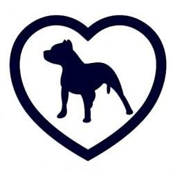 Samolepka na auto - pitbull a srdce