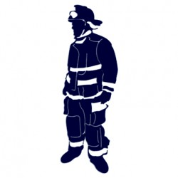 Samolepka na auto- hasič 01
