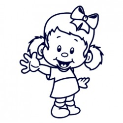 Samolepka na auto se jménem dítěte- holka s mašlí