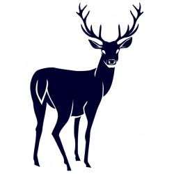 Nálepka jelen- samolepka na auto pro myslivce