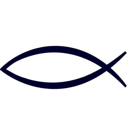 Samolepka na auto-rybička 01- křesťanský symbol