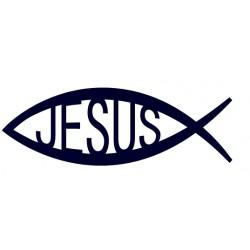 Samolepka na auto-rybička 02- křesťanský symbol