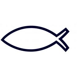Znak ryby- samolepka Ryba na auto- křesťanská samolepka