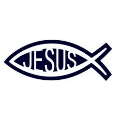 Samolepka na auto-rybička 04- křesťanský symbol