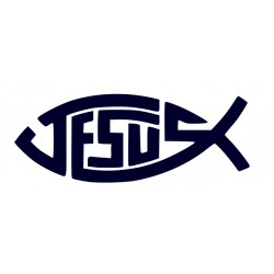 Samolepka na auto - rybička- křesťanský symbol