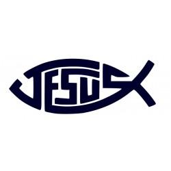 Samolepka na auto - křesťanský symbol