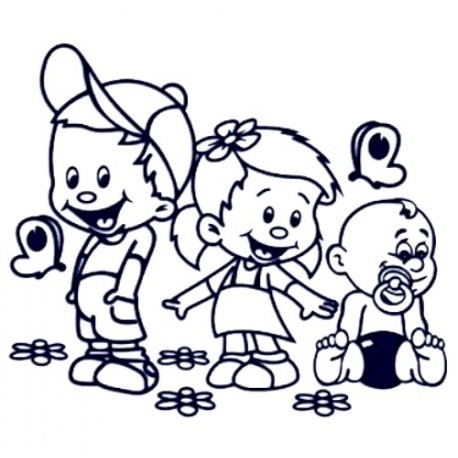 Samolepka na auto se jmény dětí - sourozenci - holka a dva kluci 02