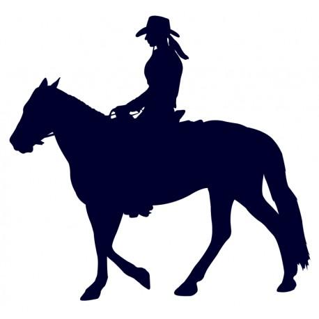 Samolepka na auto-jízda na koni 05