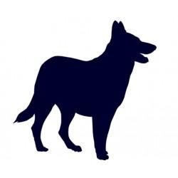 Samolepka na auto-pes v autě - Německý ovčák 02