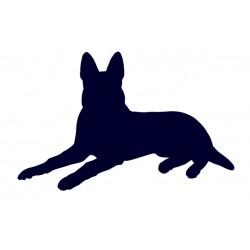 Samolepka na auto-pes v autě - Německý ovčák 04