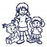 Samolepka na auto se jmény dětí - sourozenci - tři holky